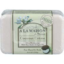 A La Maison Bar Soap Coconut Creme 8.8 oz