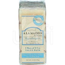 A La Maison Bar Soap Value Pack Unscented 4/3.5 oz
